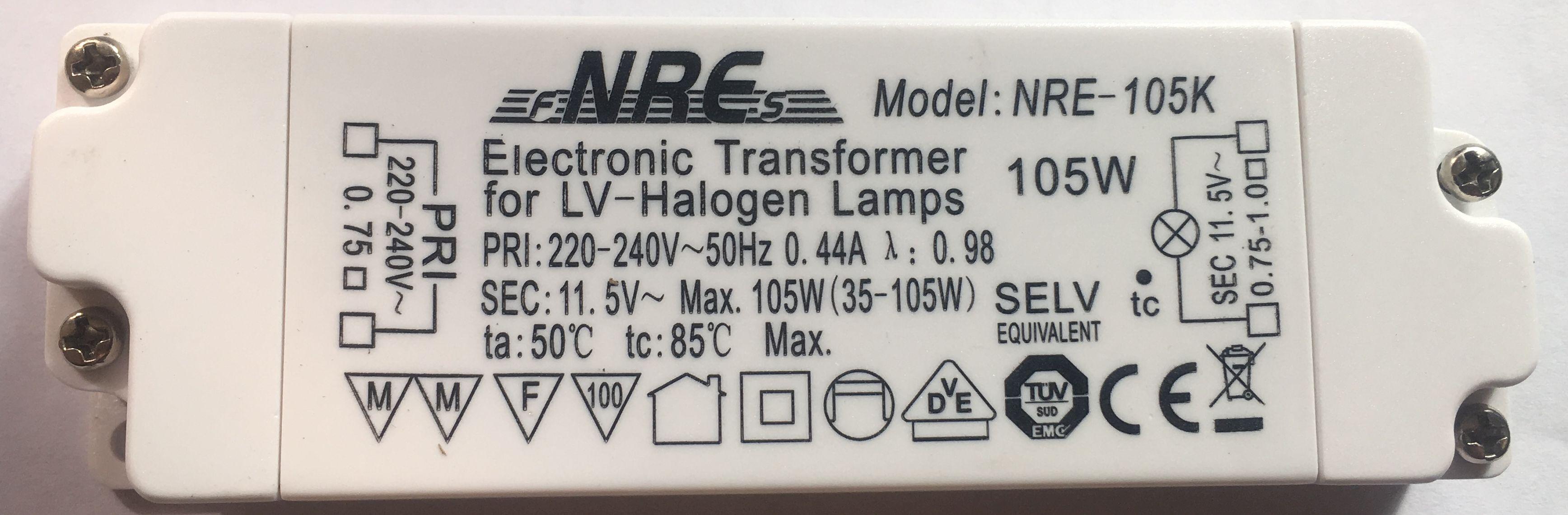 Nre 105 electronic transformer